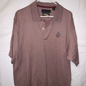 Greg Norman Play Large Wolf's Run Button Up Polo